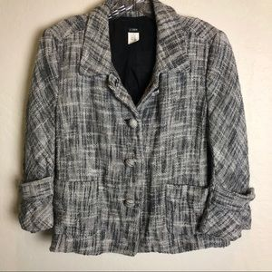 J. Crew | Black & White Tweed Jacket 12